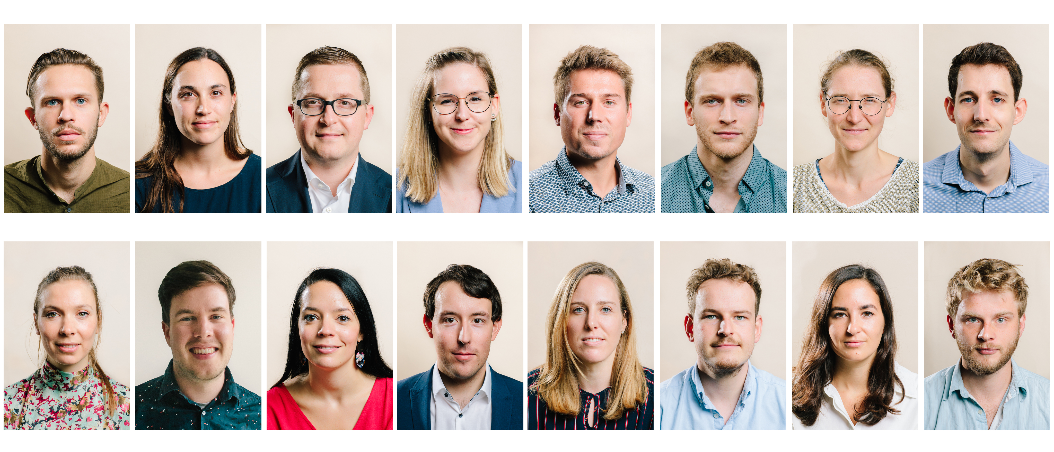 De 16 genomineerden van de Vlaamse PhD Cup 2020