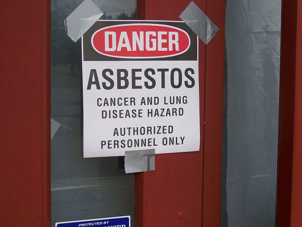 Asbest warning sign